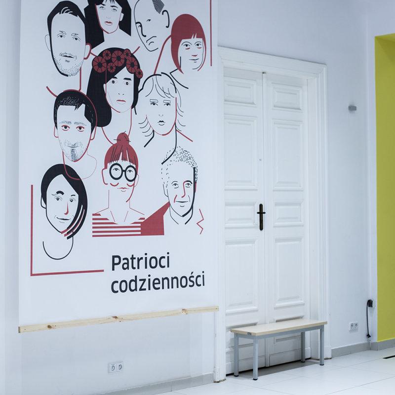 Zdjęcie z wystawy Patrioci codzienności