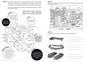 Karta pracy do wystawy: zaznaczanie elementów na rysunku, opisywanie obiektów