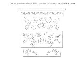 Zadanie z broszury edukacyjne do wystawy do druku: kolorowanie ula