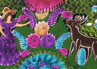 Komiks do uzupełnienia do druku z obiektem z wystawy Wcielenia jelenia
