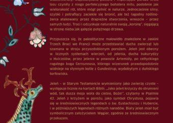 Plansza pod tytułem Jeleń mitologiczny - tekst do części wystawy