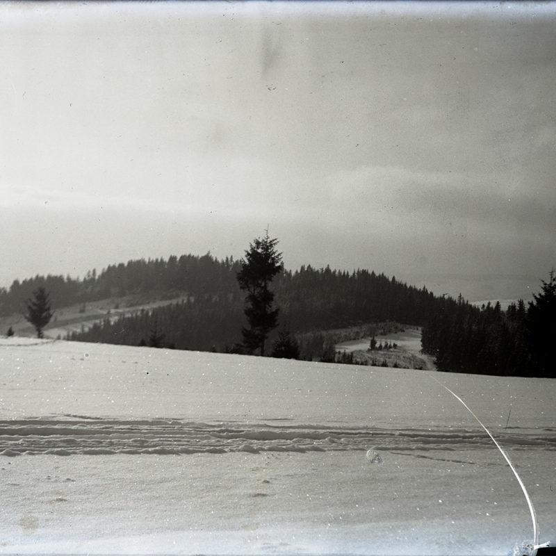 Krajobraz górski zimowy. Okolice Nowego Sącza_Arch. PME N.4039_14