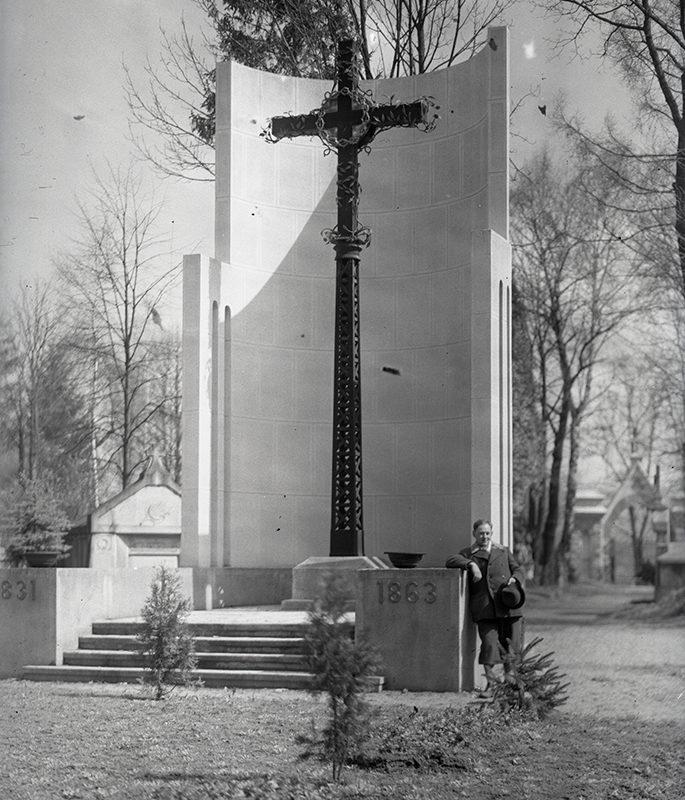 Krzyż powstańczy z cmentarza komunalnego w Nowym Sączu_Arch. PME N.4053_1