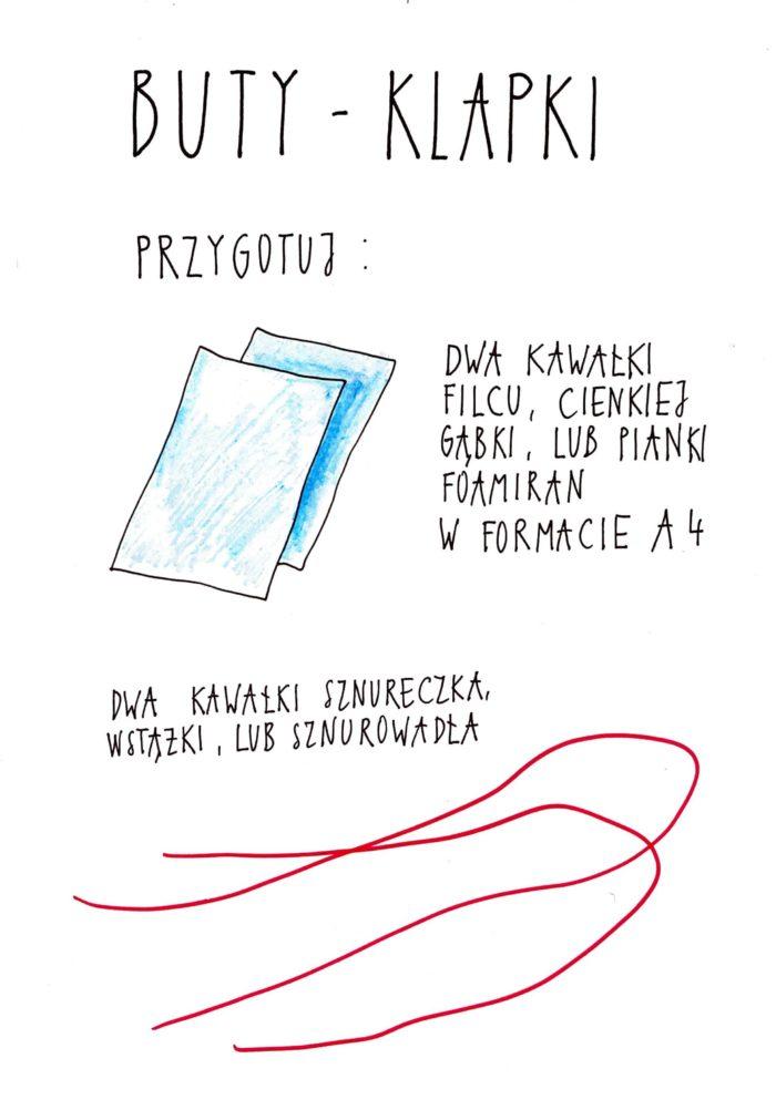 Graficzna instrukcja wykonania kapci.