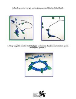 Instrukcja do przygotowania koralików o wyglądzie jagód.