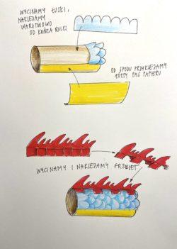 Graficzna instrukcja do stworzenia smoka z papieru.