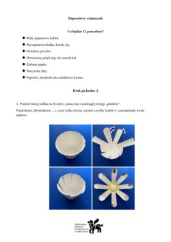 Instrukcja tworzenia wiatraczka opisana również poniżej.