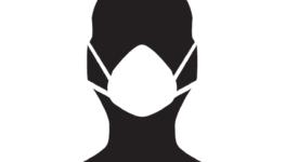 Ikona człowiek w maseczce na twarzy