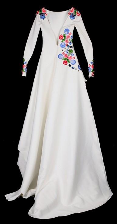 Zdjęcie sukni polskiej miss urody z kolekcji muzeum