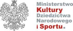 Logoyp Ministerstwo Kultury, Dziedzictwa Narodowego i sportu. Znak graficzny składa się z orła i nazwy ministerstwa.
