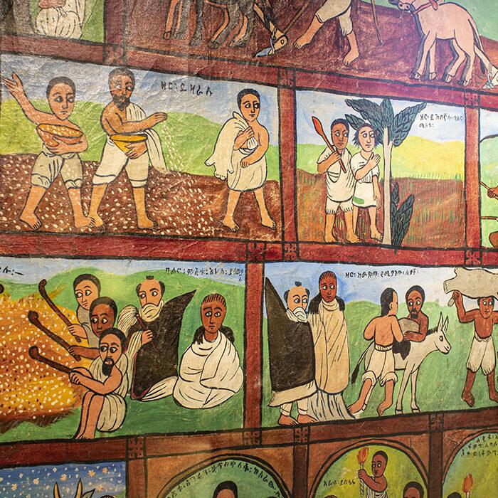 Zdjęcie obrazu z wystawy Afrykańskie wyprawy, azjatyckie drogi. Klikając w ten link możecie przeczytać o szóstym kongresie afrykanistów.