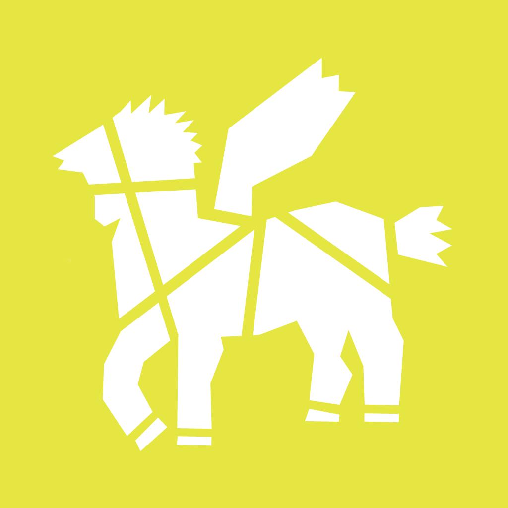 Lotyp PME - wersja biała na limonkowym tle.