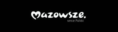 Logotyp Samorządu Województwa Mazowieckiego. Klikając na ten link można obejrzeć ich stronę internetową.
